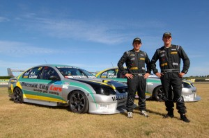 Team Aegis Oil 2013 AJ and Brad Lauder and their V8 Falcons.