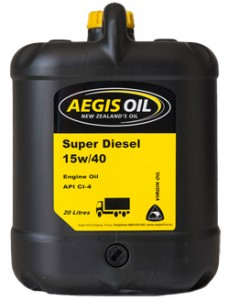 Super Diesel 15w/40 Engine Oil - Aegis Oil New Zealands Oil
