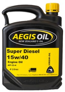 Super Diesel Engine Oil 15w/40 - Aegis Oil New Zealands Oil