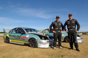 Team Aegis Oil 2013 AJ and Brad Lauder and their V8 Falcons.
