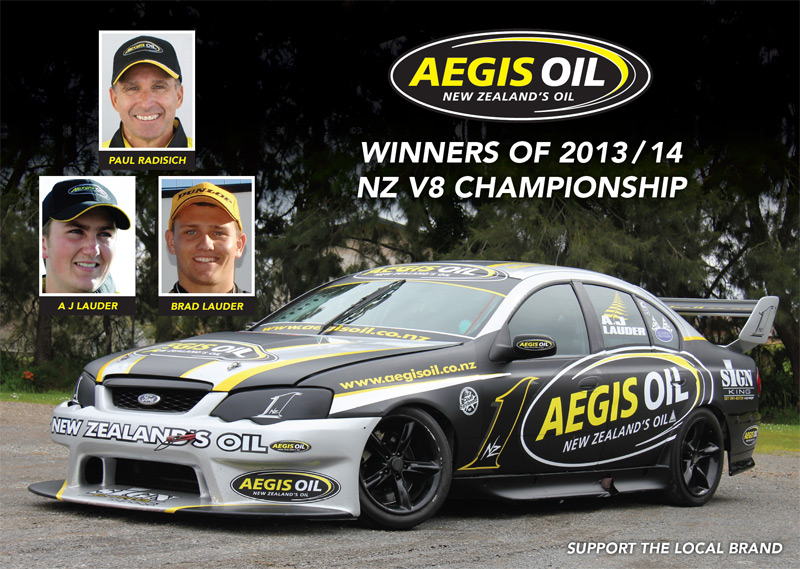 New Zealand V8 Champion AJ Lauder