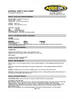 msds ATV 20w60 Full Synthetic Oil