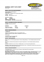 msds SAE 30 Red Engine OIl